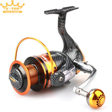 All-Metal 7000 Series 12+1BB Line Cup Spinning Fishing Reel Long Distance Surfcasting Sea Fishing Wheel