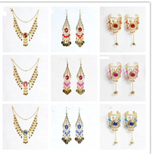 Indian Dancewear Gems Belly Dance India Belly Dance Accessories Necklace Dance Accessory set