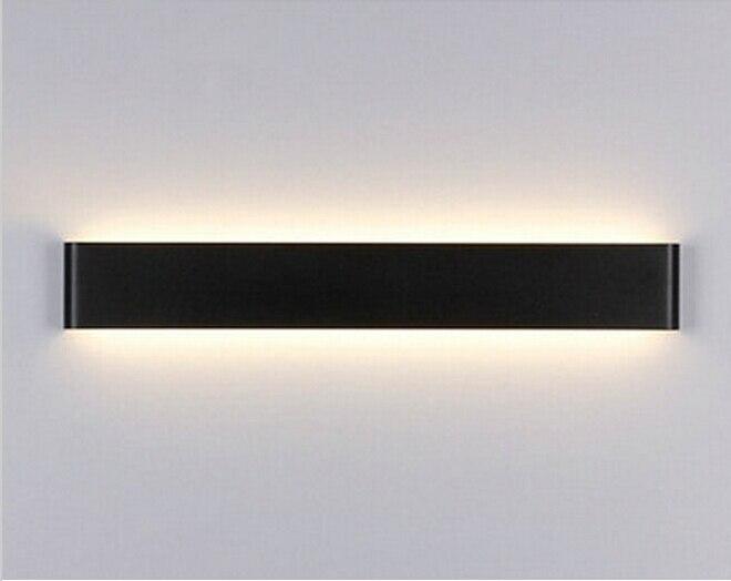 Wandlamp Boven Spiegel : Led aluminium w wit zwart indoor ip led wandlamp cm warm