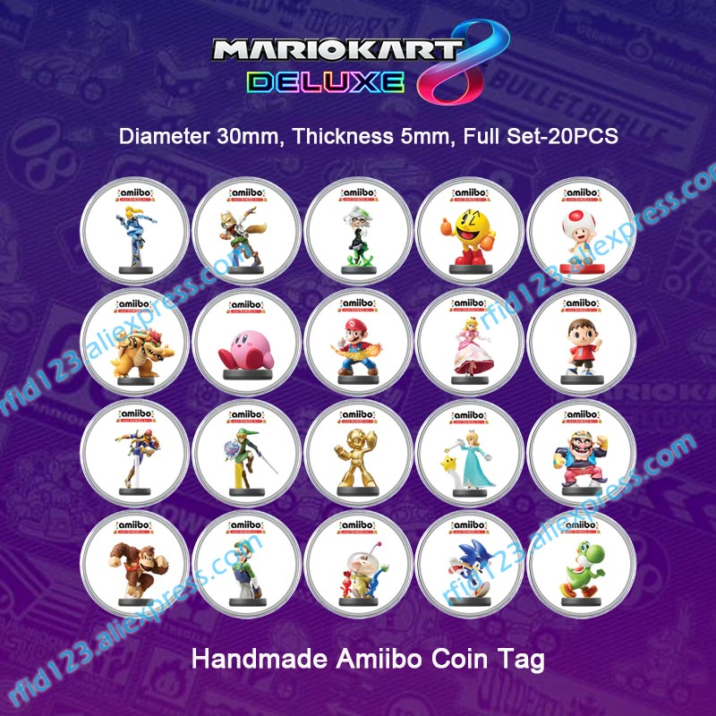 Amiibo Coin Tag NFC Tag For Mario Kart 8 Deluxe/Splatoon2/Mario Odyssey
