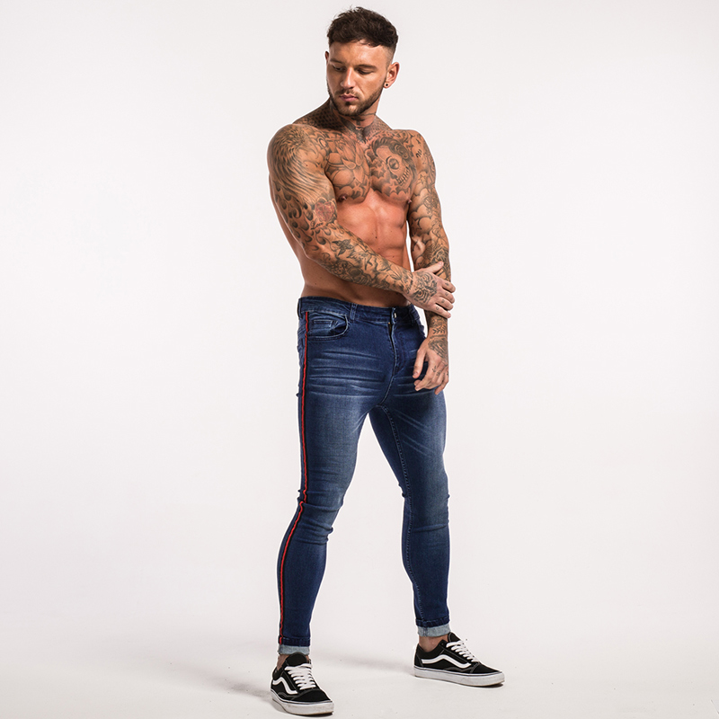 gingtto-men-skinny-jeans-dark-blue-red-stripe-stretch-jeans-zm20-11