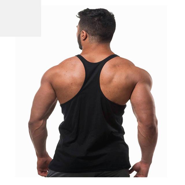2018New vest bodybuilding clothing and fitness men undershirt solid tank tops blank golds men undershirt Muscle sleeveless vest