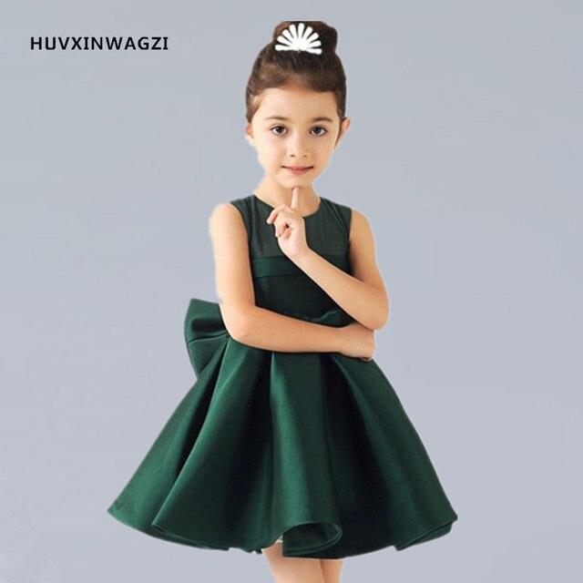 best cheap ba2c4 c1290 US $36.0 |HUVXINWAGZI Flower girl abiti Baby Girl Verde/Bianco/Rosso del  Raso Neonati capretti di Estate vestiti dalla ragazza di Fiore in  HUVXINWAGZI ...