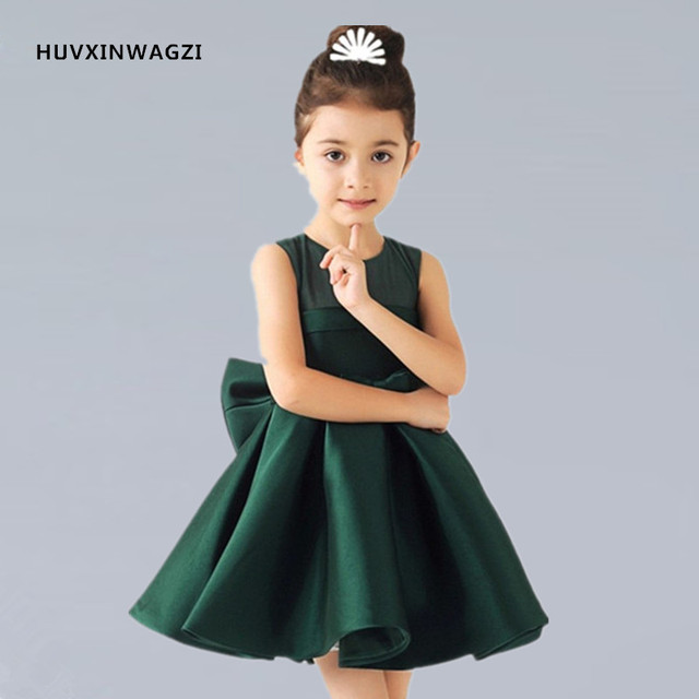 Huvxinwagzi flower girl dresses baby girl green white red satin huvxinwagzi flower girl dresses baby girl green white red satin infants summer kids flower mightylinksfo