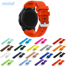 CRESTED Sport Silicone strap band for Samsung Gear S3 Frontier/Classic rubber watch wrist bracelet & replacement watchband 22mm