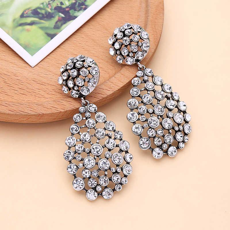 312f017b72 KISS ME Big Water Drop Crystal Earrings New Design Zinc Alloy Fashion  Chandelier Earrings for Women Jewelry Gifts