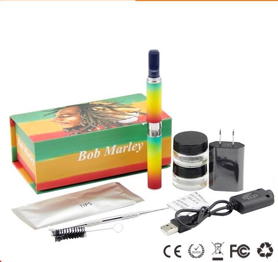 Bob Snoop dogg erva seca starter kit e cig herbal kits de caneta vaporizador cigarro eletrônico com 650 mah bateria Escova De Limpeza ferramenta