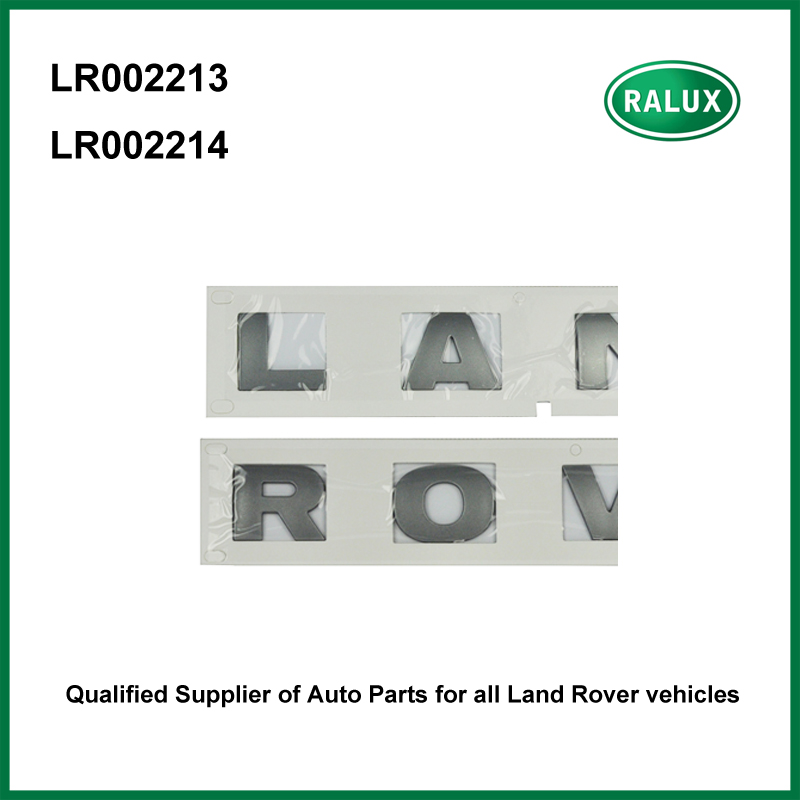 Exterior Car Part Names: Car Front Brand Letter Stickers Silver For LAND ROVER