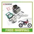 XY250GY x2 x2x SHINERAY 250CC bloco de cilindros do motor anel de pistão pino conjunto de acessórios completos frete grátis