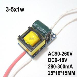 Image 3 - Pcs LED Driver Atual Constante fonte de Alimentação Da Lâmpada 280mA 2 300mA 1W 3W 5W 7W 9W 10W 20W 30W 36W 50W Isolamento Transformador de Iluminação