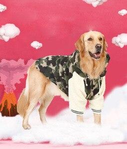 Winter warme fleece Große großen hund mantel jacke camouflage hund puppy hoodie pyjamas kleidung golden retriever pitbull hund kleidung
