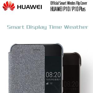 Image 2 - HUAWEI P10 Ốp Lưng Ban Đầu chính thức Smart View Cửa Sổ Vải Da điện HUAWEI P10 Plus Ốp Lưng Kinh Doanh P10 Plus Lật bao da