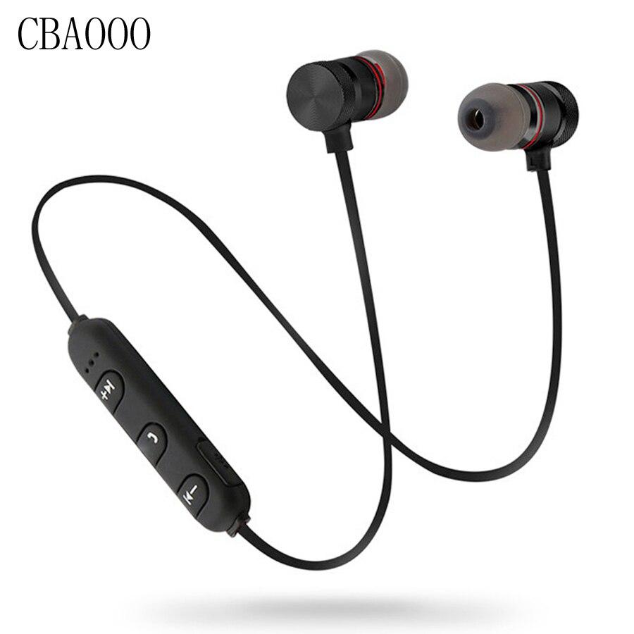 Bass Bluetooth Kopfhörer Wireless Headset Kopfhörer Mit Mic Stereo Magnetische Blutooth Kopfhörer für Handy Sport