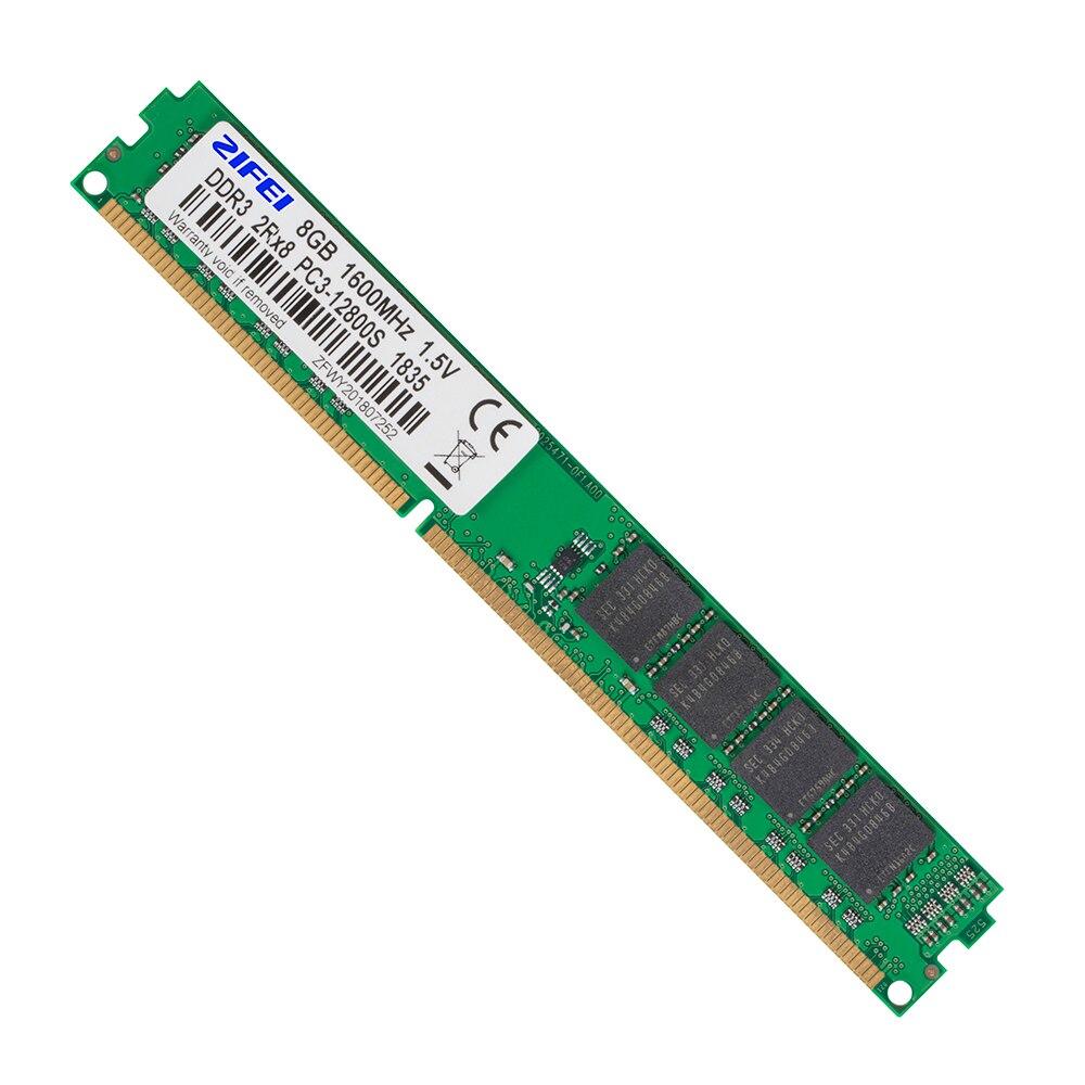 ZIFEI RAM DDR3 8GB 4GB 1866 1600 1333 1066 MHz 2Rx8 Dual módulo 240pin não-ECC DIMM UDIMM Memória Desktop trabalhar com a Intel & AMD