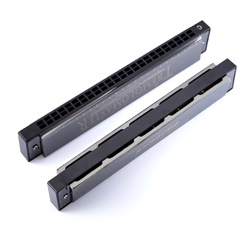 Купить с кэшбэком tremolo 24 holes harmonica C tone Tremolo master kong sheng tremolo mouth organ for adult beginner