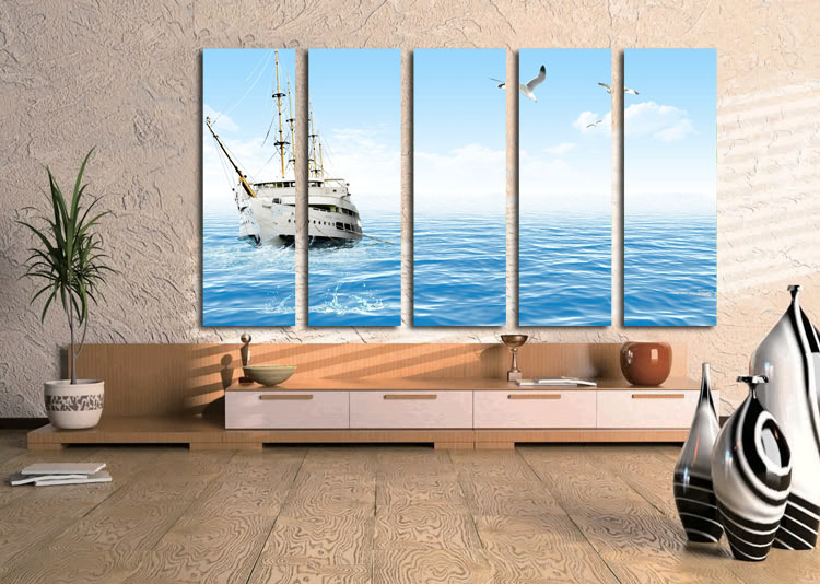 5 Panels New Modern Canvas Painting Abstract Poster