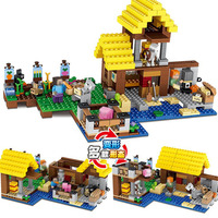 Block Technic LegoINGLYs Minecraft Village 21144 Toys For Children Classic The Farm Cottage DIY Bricks Mini Action figures G