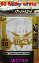 KMC 10 ჩანთა / ლოტი (500 ცალი) YuGiOh ARC-V ბარათის ყდის სამაგიდო თამაშები კარტის დამცავი 50 ყდის / ტომრის უფასო გადაზიდვა