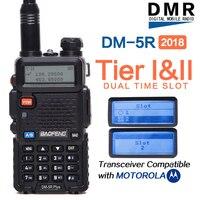 2018 Baofeng DM 5R plus Digital Walkie Talkie Tier I Tier II Tier 2 DMR digital&analog Two way radio Dual Band Repeater dm5r