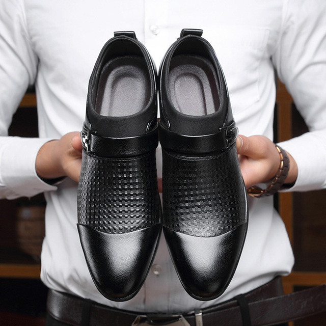 Leather Oxford Shoes For Men Dress Shoes Business 4