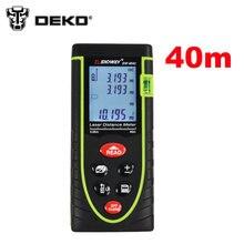 DEKO SW-M40-0.05 40 m medidor de distancia Láser Digital Telémetro alcance Cinta métrica buscador Área/volumen herramienta