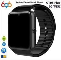 696 Hot GT08 Plus 1.54 Android 4.4 Smartwatch Phone MTK6572 512M RAM 4GB ROM Bluetooth 4.0 3G WiFi GPS Waterproof Smart Watch