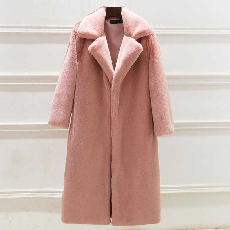 Норковая шуба женская длинная шуба из искусственного меха зимняя Толстая теплая искусственная Меховая куртка Женское пальто плюс размер Свободная Женская верхняя одежда кардиган