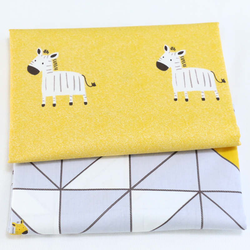 New Cute Horse Printed Cotton Fabrics For Sewing Crafts DIY Handmade Hometextile Kids Cloth For Dress Curtain Patchwork Tissue