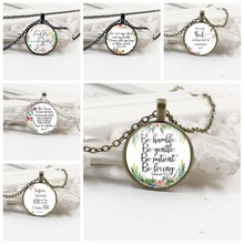 heat! 2019 New Bible Scripture Necklace Glass Dome Pendant Necklace Scripture Quotes Jewelry Christian Faith Inspiring Gift(China)