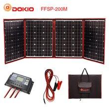 Dokio Flexible Foldable 200W(50Wx4) Mono Solar Panel High Power Portable Solar Panel For RV&Boat&Travel Solar Panel China Brand
