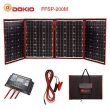 Dokio Гибкая Складная 200 Вт (50Wx4) моно солнечная панель высокой мощности портативная солнечная панель для RV и лодки и путешествия солнечная панель Китай бренд