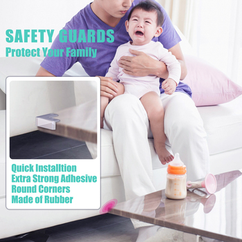 5pcs baby safety product baby proofing glass table corner guards child rubber desk corners protector seguridad 5