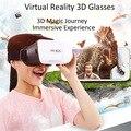 Universal caixa de vr realidade virtual óculos 3d da cabeça de montagem google papelão ajustável para ios/android smartphone 3d teatro privado
