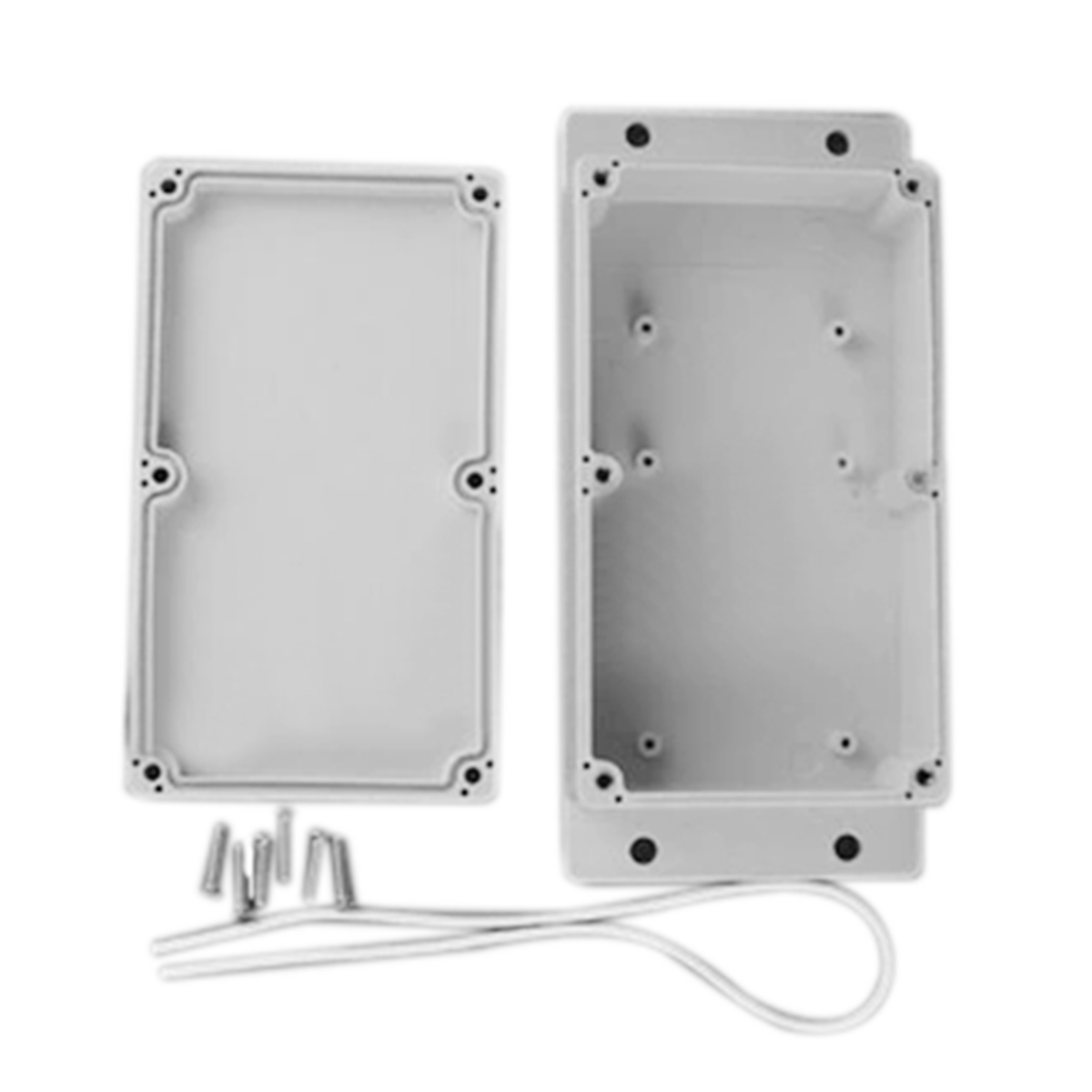 White Waterproof Plastic Enclosure Box Electric Power Junction Case 158mmx90mmx46mm with 6pcs Screws 1 piece free shipping plastic enclosure for wall mount amplifier case waterproof plastic junction box 110 65 28mm