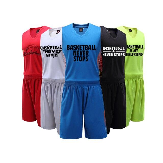 Adsmoney Высокое качество пользовательские Китай Команда пустой Баскетбол  Джерси Для мужчин дышащая Баскетбол одежда Профессиональные спортивный e6252eb1f9b