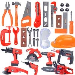 Детский инструмент для ремонта, игровой домик, игрушки, ролевые игры, электрическая дрель, гайка, пила, разборка, инструмент для моделирован...