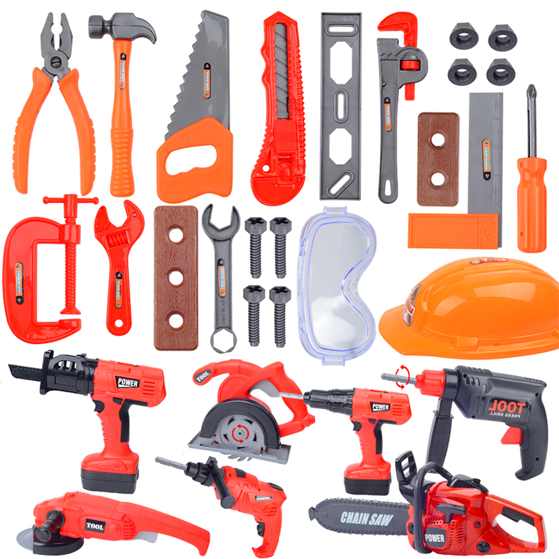 Children Repair Tool Play House Toys Pretend Play Electric Drill Nut Saw Disassembly Simulation Tool Educational Toy For BoysChildren Repair Tool Play House Toys Pretend Play Electric Drill Nut Saw Disassembly Simulation Tool Educational Toy For Boys