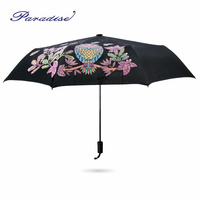 2017 Meet Water After Color Changing Creative Umbrella Color Changing Owl Woman Rain Umbrella 3 Folding