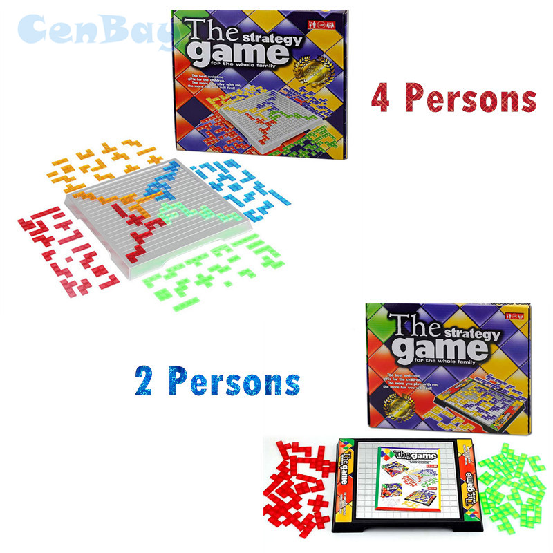 2-4 Players The Strategy Board Game Classic Tetris Party Game Parent-child Interactive Table Chess Toys for Children Gifts