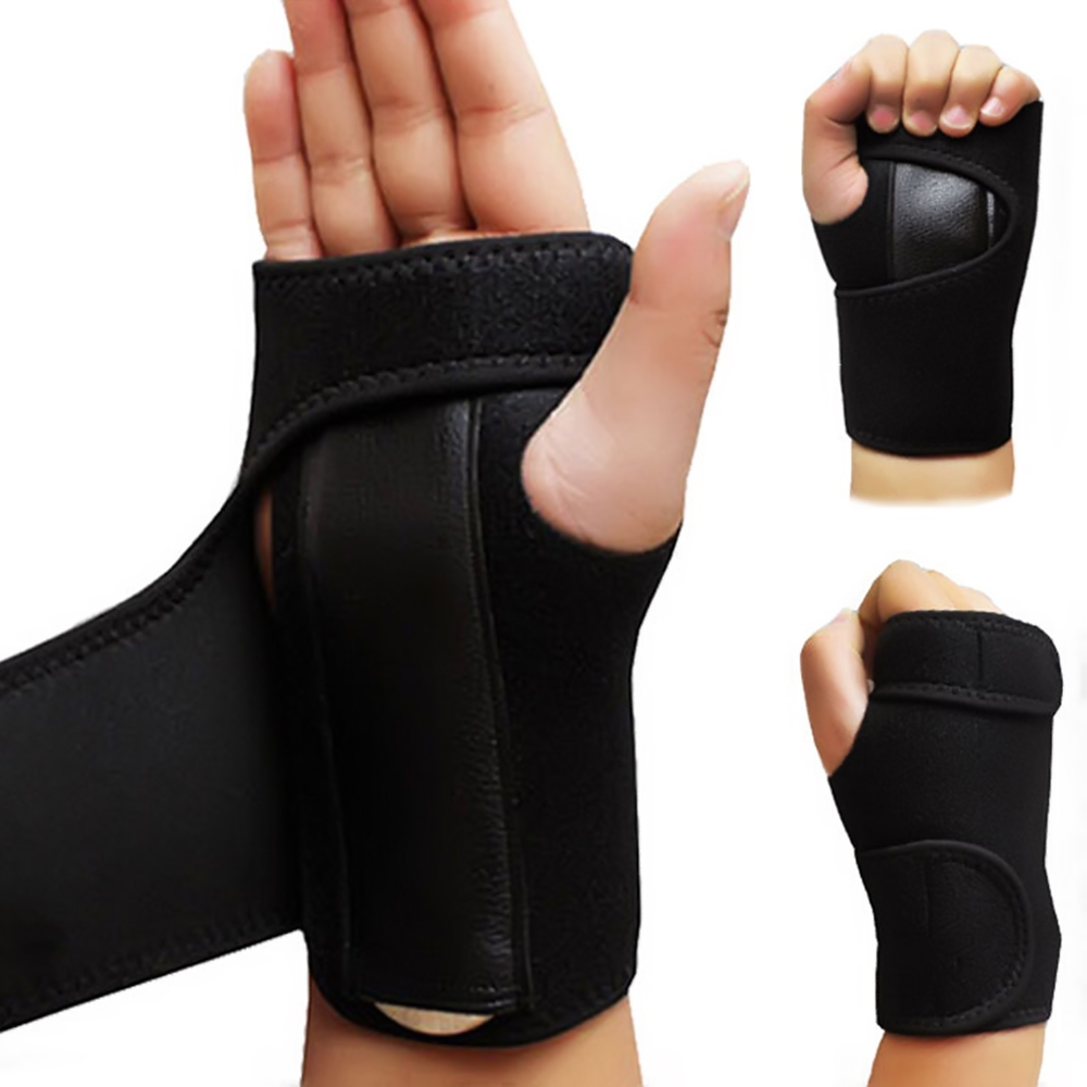 Wrap-Protector Wristband Splint Carpal-Tunnel Arthritis Sprain Adjustable Steel Removable