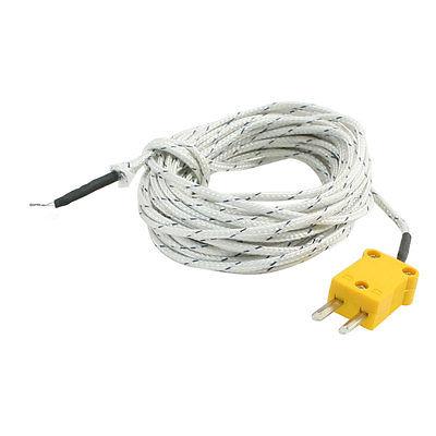 K Type Male Plug 0 to 250C Temperature Sensor Thermocouple 16.4Ft 0 1300 cetigrade industrial thermocouple k type temperature sensor 0 1300c temperature probe