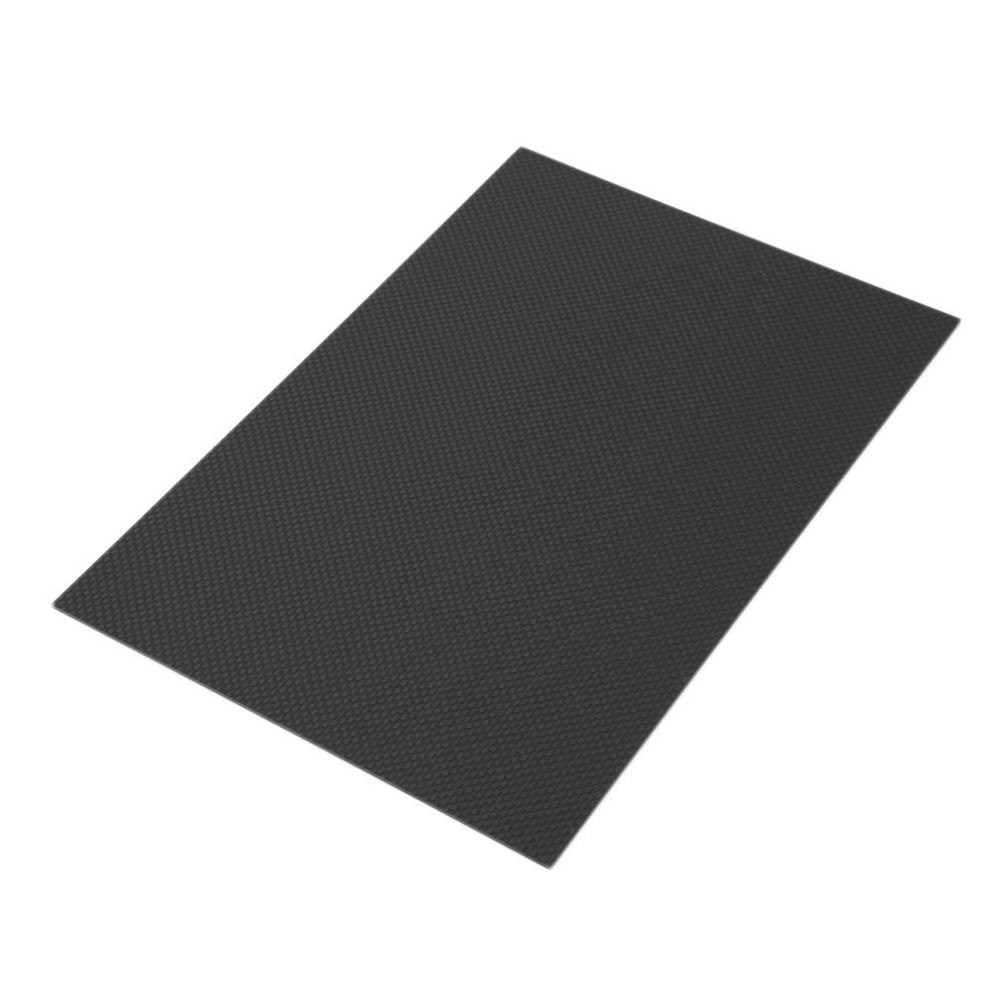 Hot! 1pcs 200*300*0.5mm With 100% Real Carbon Fiber plate/panel/sheet 3K plain weave Brand New Sale 1pc full carbon fiber board high strength rc carbon fiber plate panel sheet 3k plain weave 7 87x7 87x0 06 balck glossy matte