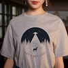 Women's fashion cartoon printed letter short-sleeved casual T-shirt shirt 11