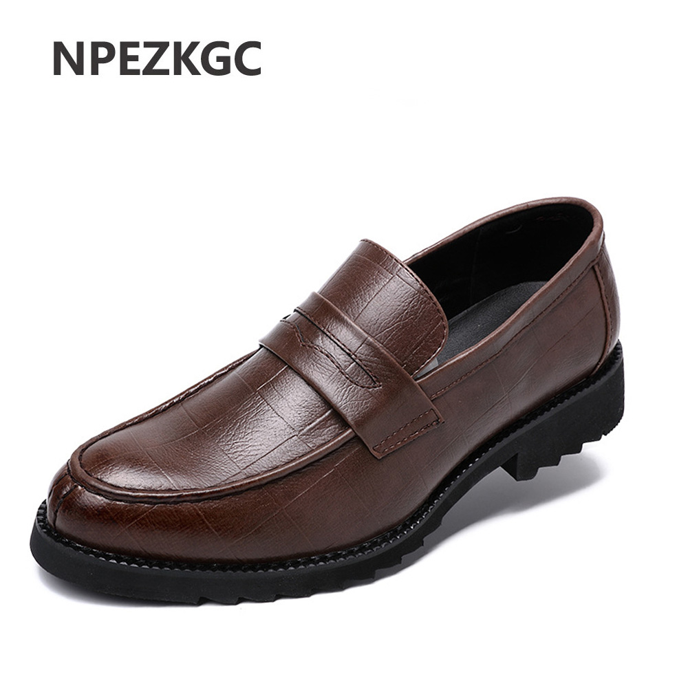 NPEZKGC Slip On Flats Loafers Male Shoes Fashionable Mens Casual Genuine Leather Shoes Comfortable Soft Handmade Driving Shoes genuine leather men shoes casual loafers slip on mens driving shoes flats moccasins comfortable leisure male hot fashion