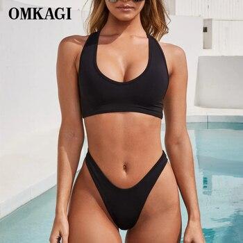 OMKAGI Brand Bikini 2019 Swimwear Women Swimsuit Micro Brazilian Sexy Bikinis Set Push Up Swimming Bathing Suit Beachwear