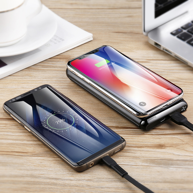 Baseus 10000mAh QI Wireless Charger Power Bank For iPhone Samsung PD + QC3.0 Fast Charging USB Powerbank External Battery Pack 5