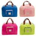 Mujeres bolsa de viaje plegable de nylon Impermeable de Gran bolsa de compras de la lona bolsa de hombro totes bolsa de viaje con cremallera