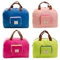 Mulheres saco de viagem dobrável de nylon Impermeável Grande saco de compras ombro zipper totes viagem duffle bag bolsa
