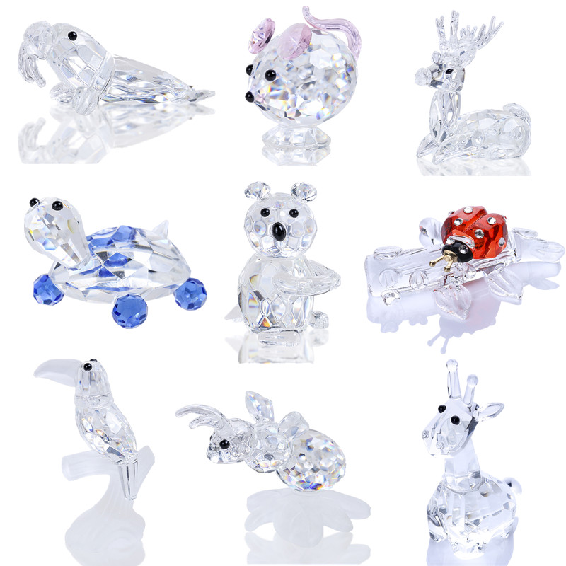 H&D Sparkly Crystal Animal Figurine Collection Paperweight Table Centerpiece Ornament Home Decoration Xmas Gifts (9 Styles)H&D Sparkly Crystal Animal Figurine Collection Paperweight Table Centerpiece Ornament Home Decoration Xmas Gifts (9 Styles)