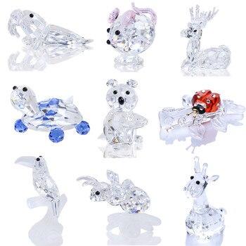 H & D Sparkly Crystal Animal figurita colección pisapapeles Mesa centro de mesa ornamento decoración del hogar regalos de Navidad (9 estilos)